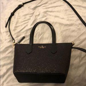 Kate Spade Black Glitter bag